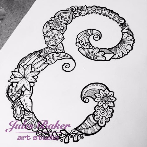 Digital Coloring Page Letter E From