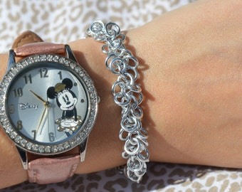 Silver Shaggy Loops Chainmaille Bracelet