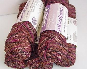 Melrose Cravenella 70 30 Wool Rayon Knit Crochet Weave Yarn Print 4 Varigated 2oz Skeins