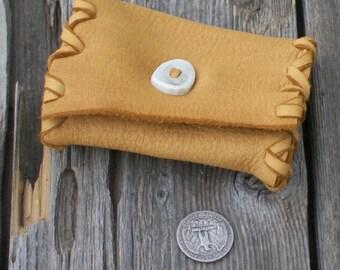 Mini leather clutch , Leather card case , Mini tarot card case < Leather clutch , Card case , Coin Purse