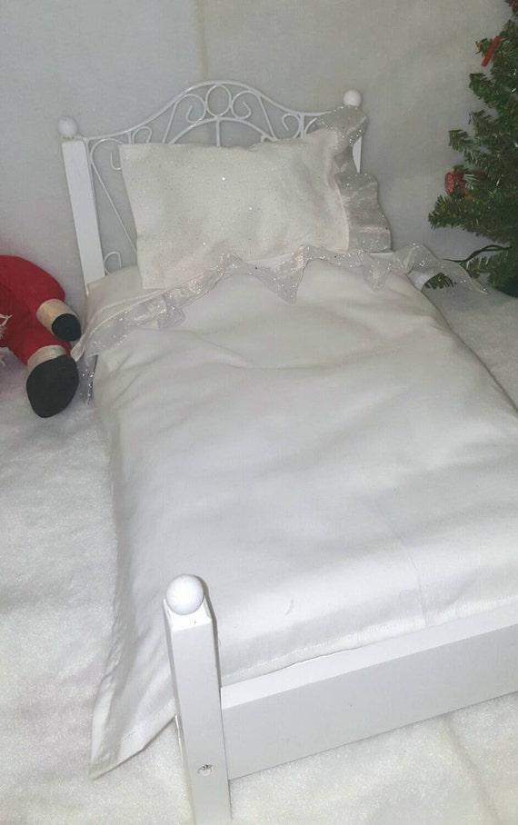 18 inch Girl Doll Shimmering Edge Sheet Set