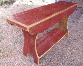 Rustic Barn Wood Bench
