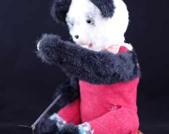 Vintage Battery Operated Alps fishing Panda Bear. Made in Japan. Vintage Japanese automate - Japanese toys - Vintage toys