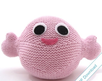 Hug Monster Knitted Toy Pattern PDF. Make your own Monster.