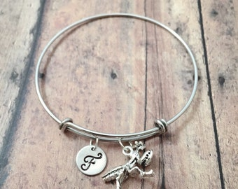Praying mantis initial bangle - praying mantis jewelry, bug jewelry, insect bangle, science jewelry, bug bracelet, praying mantis pendant