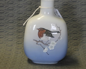 Royal Copenhagen Denmark Bird Vase
