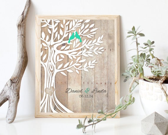 Gift For Newly Wed: Personalized Wedding Gift Newly Weds Gift Family Tree Art