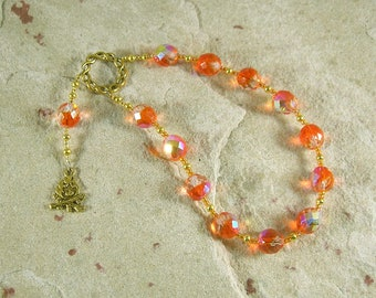 Hestia Pocket Prayer Beads: Greek Goddess of the Hearth, Home and Family, Household and Community.
