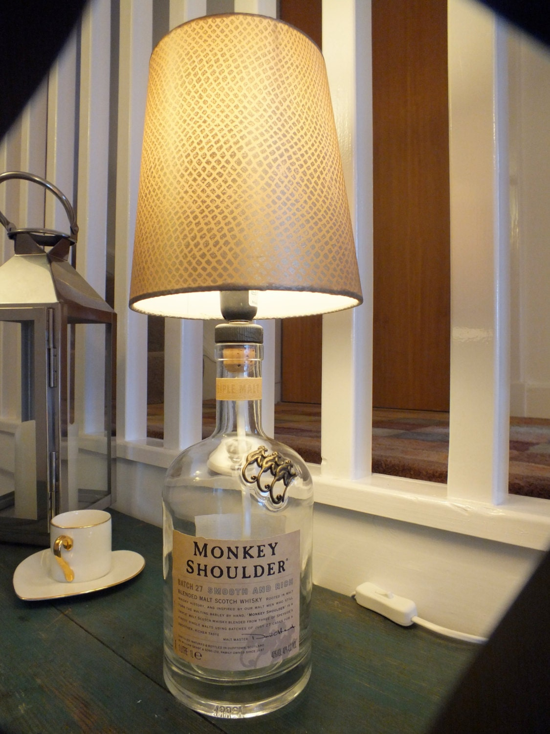 Monkey shoulder whisky bottle table lamp zoom mozeypictures Choice Image