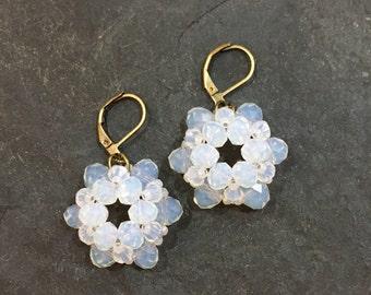 Handgemachte / Handgemacht Perlen Ohrringe aus Toho Perlen. Blei und Nickel frei.