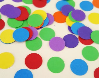 OVER THE RAINBOW Bright- Confetti / Table Scatters - Rainbow Party Decoration