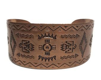 Copper Cuff Bracelet Native American Bell Trading