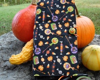Halloween Treats in Black Traveler's fabric cover