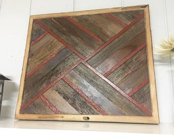 Abstract Barn Wood Decor 21x21