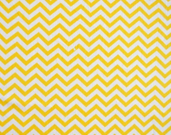 Fabric 100% cotton-yellow and white waves