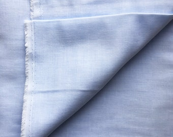 japanese fabric. solid cotton double gauze. 108cm (42.5in) wide. sold by 50cm (19in) long / half yard. baby blue