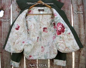 Quilted Jacket Womans Medium Large ~ Reverseable ~ Winter Fashion ~ Ranch Wear