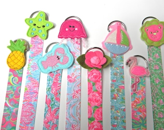 Lilly Hair Bow Holder  Hair Clip Holder Barrette Holder with Matching Ribbon