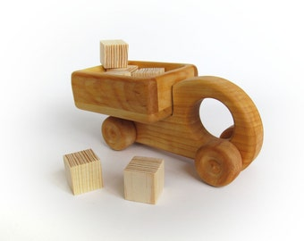 Easter gift - Wooden Car Toy - Wood Truck Toy for Babies - Montessori Toy - Gift for a Boy - Push Toy - Wooden Toy for Babies - Baby Toy
