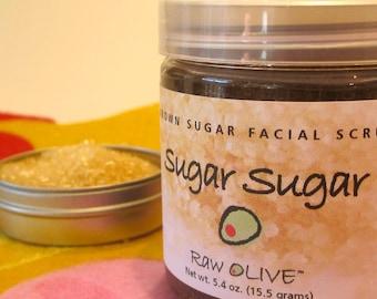 Soin du visage bio sucre brun et exfoliant pour les lèvres