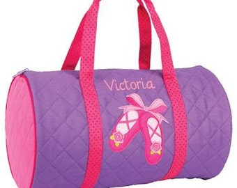 Personalized Ballet Dance Bag-Personalized Ballet Shoes Dance Bag, Girl's Dance Bag