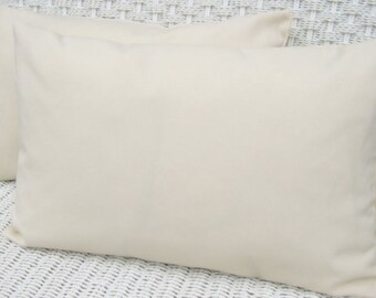 10 12x18 WHOLESALE Blank Solid Ivory Lumbar Pillow Covers for Embroidery Stencil Craft Screen Print Painting 10 Covers 12x18