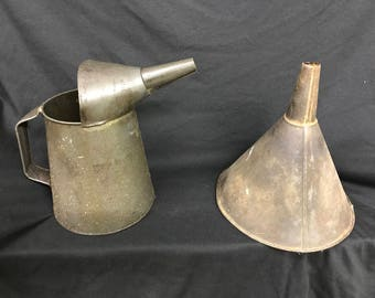 Vintage Oil Can And Funnel