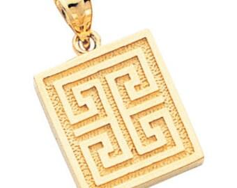 Greek key silver pendant greek key pendant silver pendant 14k yellow gold greek key pendant greek key greek key pendant key pendant audiocablefo