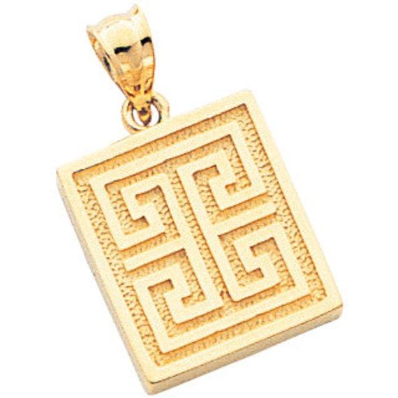 14k yellow gold greek key pendant greek key greek key aloadofball Choice Image