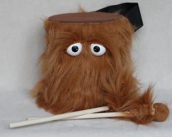 Tambour - les enfants Whispy brun fait à la main Durable respectueux de l'environnement amusant plus cool marche batterie pour enfants «BLAST BUDDY»