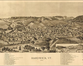 Poster, Many Sizes Available; Map Of Hardwick, Vermont 1892