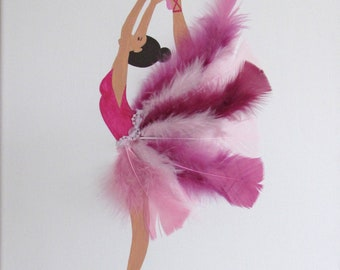 Wall hanging, table dancer pink
