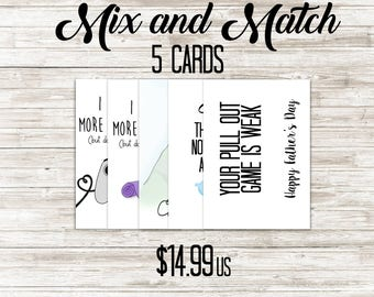 Mix and Match Set of 5 - Set of 5 Greeting Cards - Funny Greeting Cards - Bulk Greeting Card Order