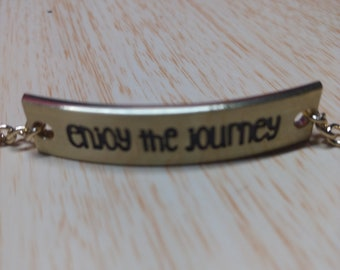 Enjoy the journey bracelet. You dream it, I make it. Custom Jewelry made by Tony.