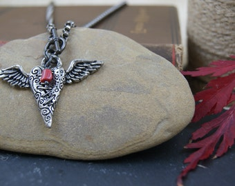Love Gives Wings to Mend a Broken Heart necklace