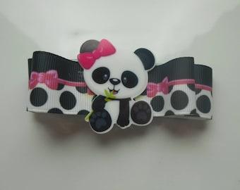 Panda hair clip for kids