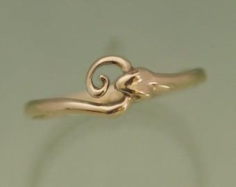 Snake Ring 14k Gold