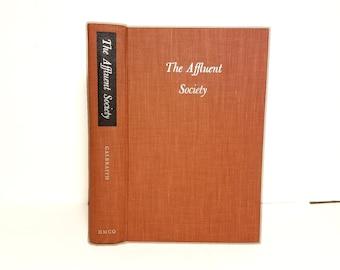 Hollow Book Safe The Affluent Society Cloth Bound vintage Secret Compartment Security hiding place Emily Post Etiquette