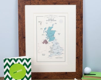Great British Golf Courses Map (+ Free Card!)