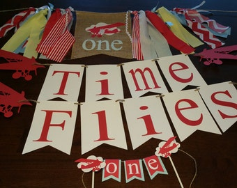 Airplane Party Decorations, Airplane Birthday Party Package, Party Package Boy, Boy First Birthday Themes, Flight, Aviation, Time Flies