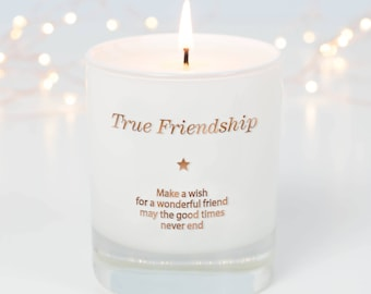 Friend Candle , Friendship Scented Candle, Best Friend Candle Gift, Birthday Gift For Friend, Christmas Gift Friend, Bff, Best Friends
