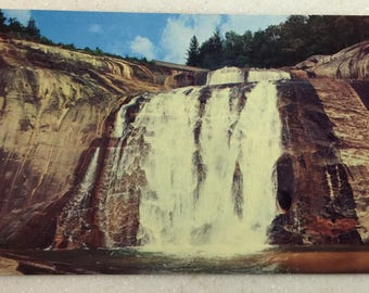 Vintage Cashiers NC Postcard Toxaway Falls Highlnds Western North Carolina