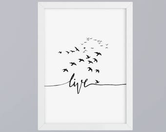 Live - unframed art print