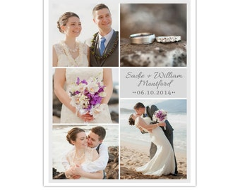 Photography Blog Board and 16x20 Storyboard Wedding Template, Editable Photoshop Template - INSTANT DOWNLOAD