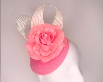 Pink hat, Ladies races hat, Ascot Hats, Pink fascinator for the races