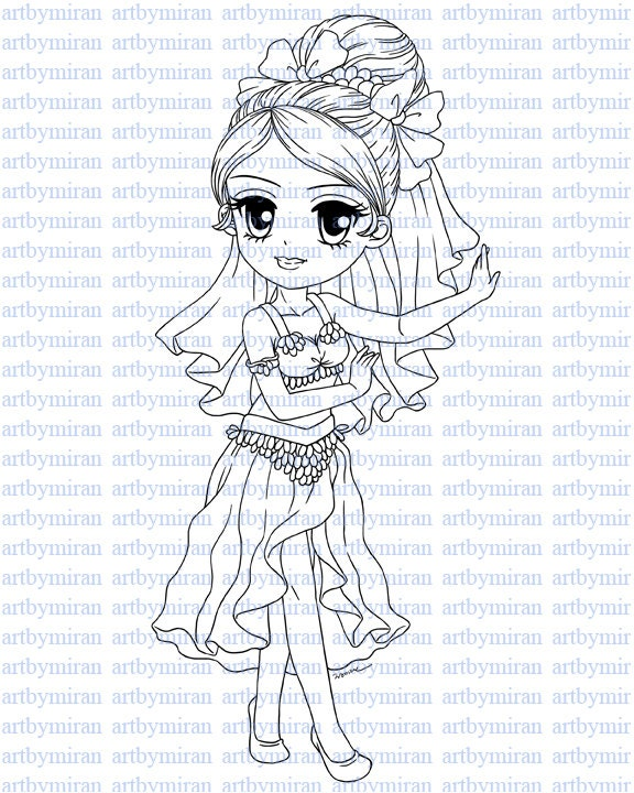 Danza de vientre de sello digital-Ellie Digi Stamp página