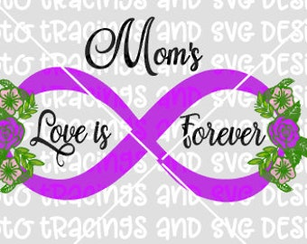 Mom's love is forever infinity svg