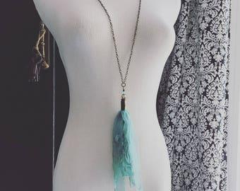 Bullet tassel necklace stargirljewelry 34 inch chain