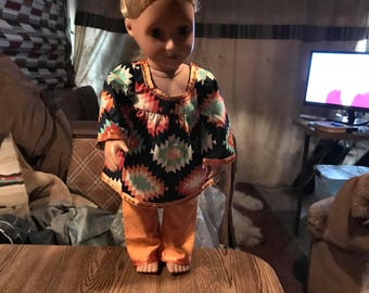 18 inch doll handmade top and pants