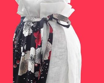 Long White skirt flowers black skirt with flowers longue jupe noire blanche avec des fleurs